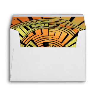 Futuristic technology abstract envelope
