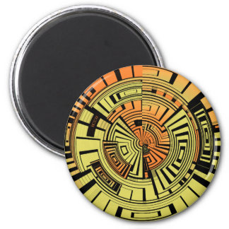 Futuristic technology abstract magnet