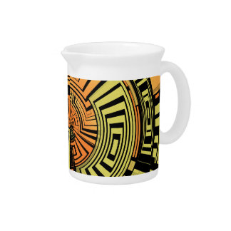 Futuristic technology abstract pitcher