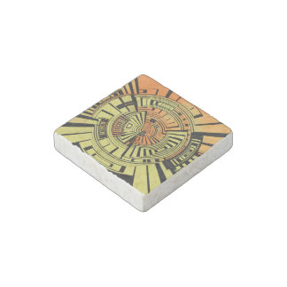 Futuristic technology abstract stone magnet