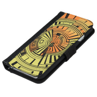 Futuristic technology abstract wallet phone case for iPhone 6/6s
