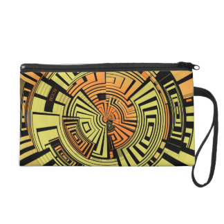 Futuristic technology abstract wristlet purse