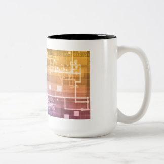 Futuristic Technology as a Next Generation Art Two-Tone Coffee Mug