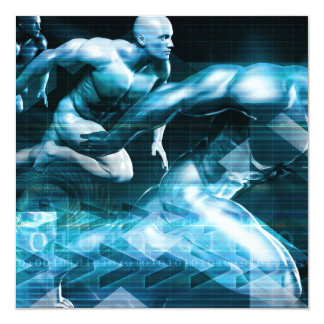 Futuristic Technology Background and Visual Data Card