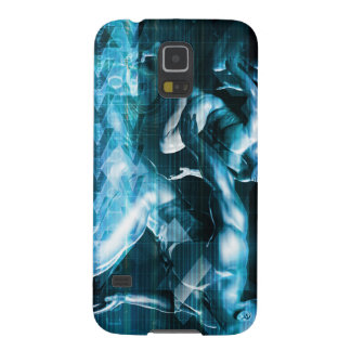Futuristic Technology Background and Visual Data Galaxy S5 Case
