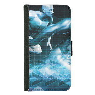 Futuristic Technology Background and Visual Data Samsung Galaxy S5 Wallet Case