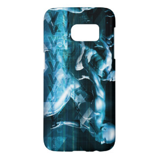 Futuristic Technology Background and Visual Data Samsung Galaxy S7 Case