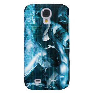 Futuristic Technology Background and Visual Data Samsung S4 Case