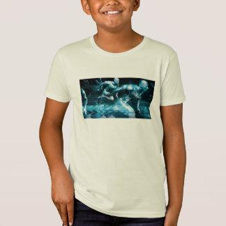 Futuristic Technology Background and Visual Data T-Shirt