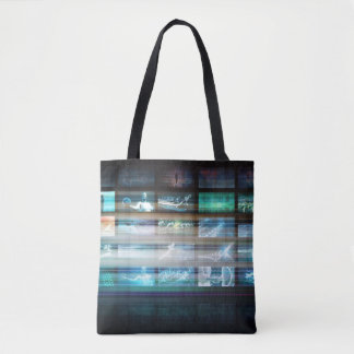 Futuristic Technology with Future Tech Abstract Tote Bag