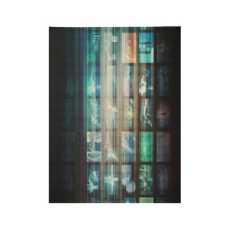 Futuristic Technology with Future Tech Abstract Wood Poster