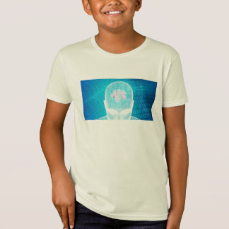 Futuristic Technology with Human Brain Chip Soluti T-Shirt