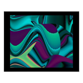 futuristically abstractly on black poster