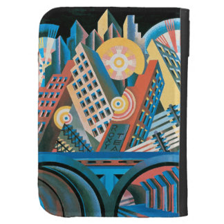 Futurists Genre Painting Kindle Keyboard Cases