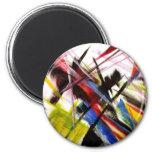 Futurists Genre Painting Magnet