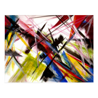 Futurists Genre Painting Postcard
