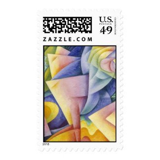Futurists Genre Painting Stamps