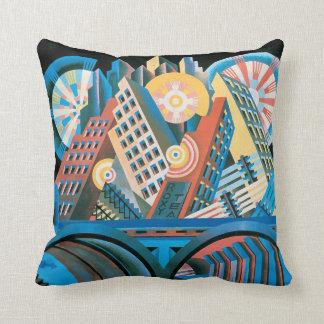 Futurists Genre Painting Throw Pillow