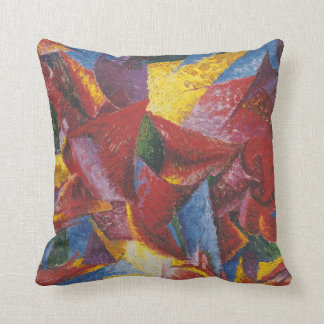 Futurists Genre Painting Throw Pillows