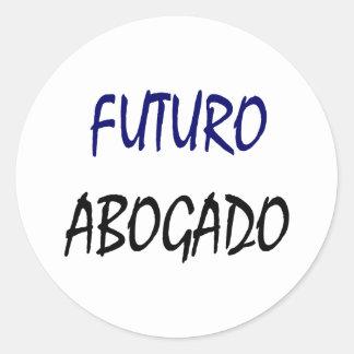 Futuro Abogado Pegatina Redonda