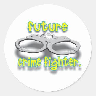 FUTURO CRIMEFIGHTER PEGATINA REDONDA