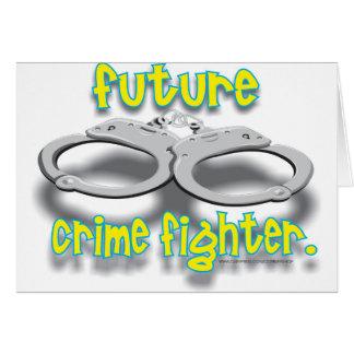 FUTURO CRIMEFIGHTER TARJETA DE FELICITACIÓN