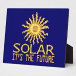 Futuro de energía solar placas con foto