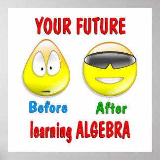 Futuro de la álgebra póster