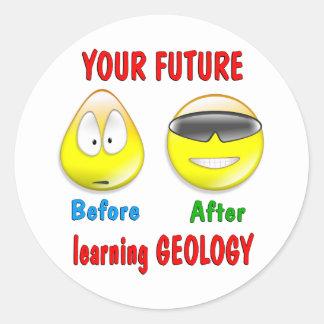 Futuro de la geología pegatinas redondas