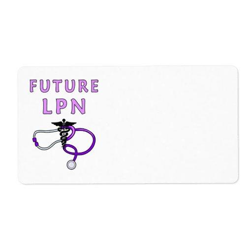 Futuro LPN de las enfermeras Etiqueta De Envío
