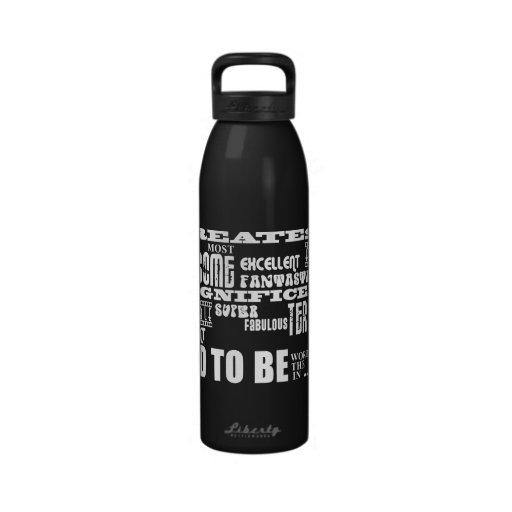 Futuro más grande de la fiesta de bienvenida al be botella de beber