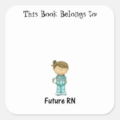 futuro RN Pegatina Cuadrada
