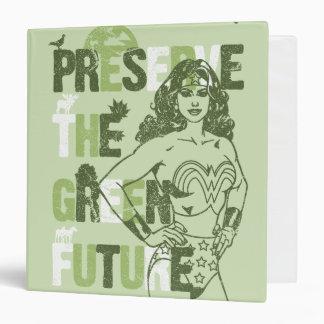 "Futuro verde de la Mujer Maravilla Carpeta 1 1/2"""