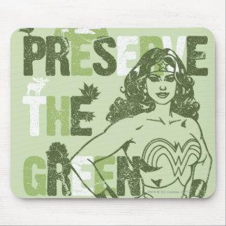 Futuro verde de la Mujer Maravilla Tapetes De Ratones