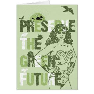 Futuro verde de la Mujer Maravilla Tarjeta De Felicitación