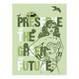 Futuro verde de la Mujer Maravilla Postales
