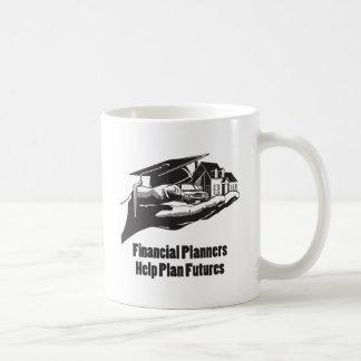 Futuros del plan de la ayuda de los planificadores taza de café