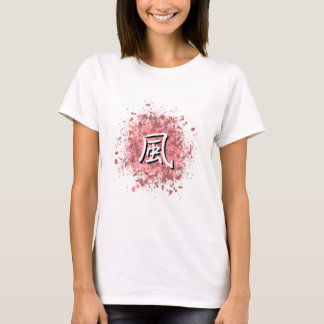 Fuu on Pink and Mauve Paint Spatter T-Shirt