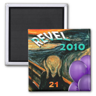 Fuuny 21st Birthday 2 Inch Square Magnet