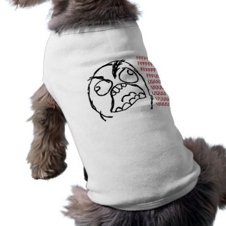 Fuuuu del fuuu del individuo de la rabia playera sin mangas para perro
