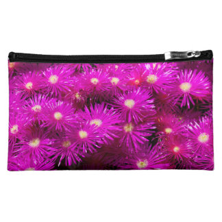 Fuxia Flowers on Medium Cosmetic Bag