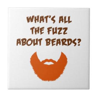Fuzz About Beards Ceramic Tile