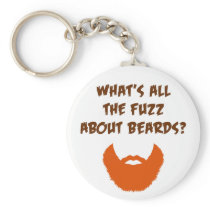 Fuzz About Beards Keychain