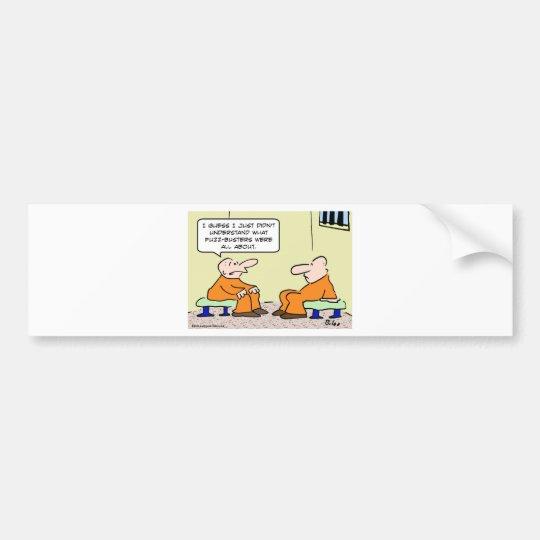fuzz busters prisoner cell bumper sticker
