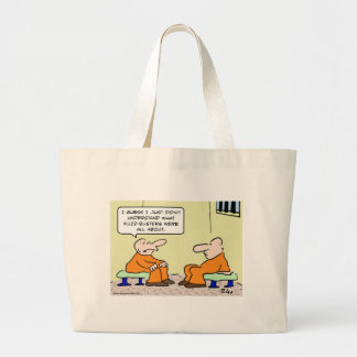 fuzz busters prisoner cell large tote bag
