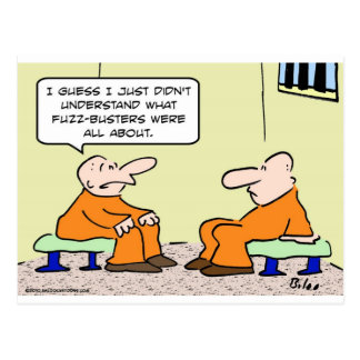 fuzz busters prisoner cell postcard