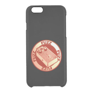 Fuzz Pedal - Red on Black Clear iPhone 6/6S Case