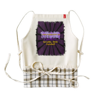 fuzzball zazzle HEART apron