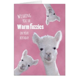 Fuzzies caliente en su cumpleaños con las llamas tarjeta de felicitación