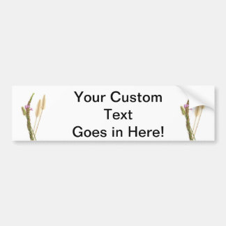 Fuzzy and purple flowers with green stems bumper sticker